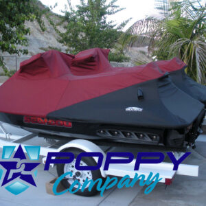 Poppy Company Burgundy/Black Seadoo Covers