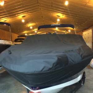 Chaparral 21 H20 OB Fish Ski With BIMINI & TROLLING MOTOR Outer Armor Mooring Cover